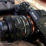 『Sony α7II』に「Canon EFレンズ」を装着