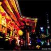 東京絵葉書:夜の浅草寺