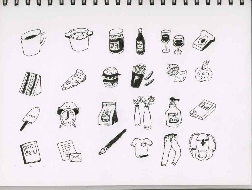 イラストがサッと描ける万年筆ですぐ描ける シンプルスケッチ